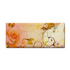 Wonderful Floral Design In Soft Colors Hand Towel