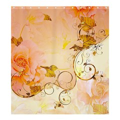 Wonderful Floral Design In Soft Colors Shower Curtain 66  X 72  (large)
