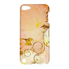Wonderful Floral Design In Soft Colors Apple Ipod Touch 5 Hardshell Case