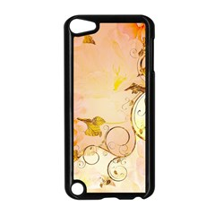 Wonderful Floral Design In Soft Colors Apple Ipod Touch 5 Case (black)