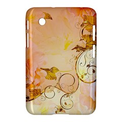 Wonderful Floral Design In Soft Colors Samsung Galaxy Tab 2 (7 ) P3100 Hardshell Case