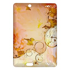Wonderful Floral Design In Soft Colors Amazon Kindle Fire Hd (2013) Hardshell Case