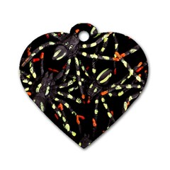 Tarantulas Dog Tag Heart (two Sides)