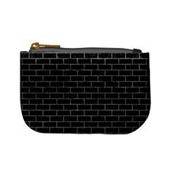 Brick1 Black Marble & Gray Mini Coin Purses
