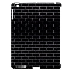 Brick1 Black Marble & Gray Apple Ipad 3/4 Hardshell Case (compatible With Smart Cover)