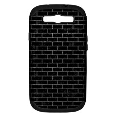 Brick1 Black Marble & Gray Samsung Galaxy S Iii Hardshell Case (pc+silicone)