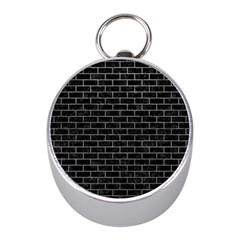 Brick1 Black Marble & Gray Mini Silver Compasses