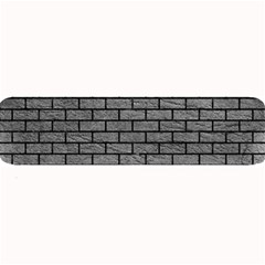 Brick1 Black Marble & Gray Leather (r) Large Bar Mats
