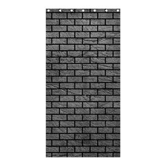 Brick1 Black Marble & Gray Leather (r) Shower Curtain 36  X 72  (stall)