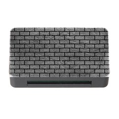 Brick1 Black Marble & Gray Leather (r) Memory Card Reader With Cf