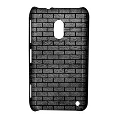 Brick1 Black Marble & Gray Leather (r) Nokia Lumia 620