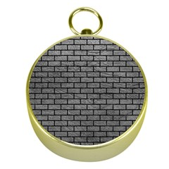 Brick1 Black Marble & Gray Leather (r) Gold Compasses
