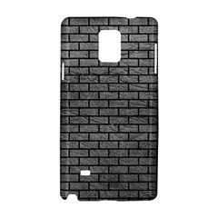 Brick1 Black Marble & Gray Leather (r) Samsung Galaxy Note 4 Hardshell Case
