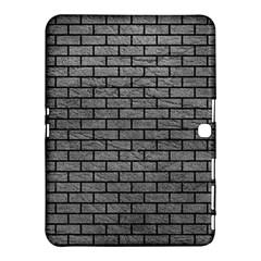Brick1 Black Marble & Gray Leather (r) Samsung Galaxy Tab 4 (10 1 ) Hardshell Case