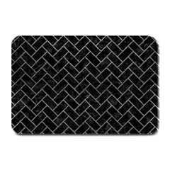 Brick2 Black Marble & Gray Leather Plate Mats