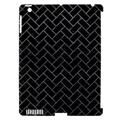 Brick2 Black Marble & Gray Leather Apple Ipad 3/4 Hardshell Case (compatible With Smart Cover)