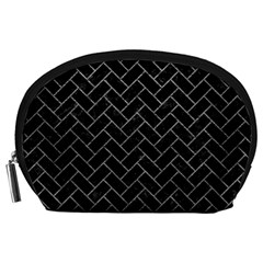 Brick2 Black Marble & Gray Leather Accessory Pouches (large)