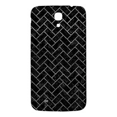 Brick2 Black Marble & Gray Leather Samsung Galaxy Mega I9200 Hardshell Back Case