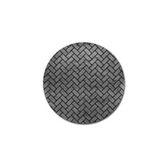 Brick2 Black Marble & Gray Leather (r) Golf Ball Marker (4 Pack)
