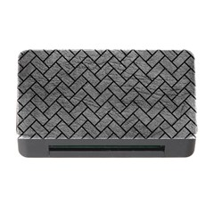 Brick2 Black Marble & Gray Leather (r) Memory Card Reader With Cf