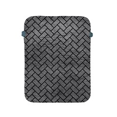 Brick2 Black Marble & Gray Leather (r) Apple Ipad 2/3/4 Protective Soft Cases