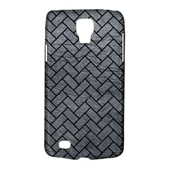 Brick2 Black Marble & Gray Leather (r) Galaxy S4 Active