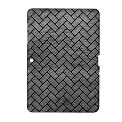 Brick2 Black Marble & Gray Leather (r) Samsung Galaxy Tab 2 (10 1 ) P5100 Hardshell Case