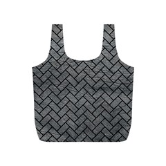 Brick2 Black Marble & Gray Leather (r) Full Print Recycle Bags (s)