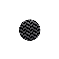 Chevron1 Black Marble & Gray Leather 1  Mini Buttons