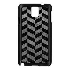 Chevron1 Black Marble & Gray Leather Samsung Galaxy Note 3 N9005 Case (black)