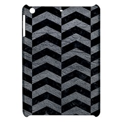 Chevron2 Black Marble & Gray Leather Apple Ipad Mini Hardshell Case