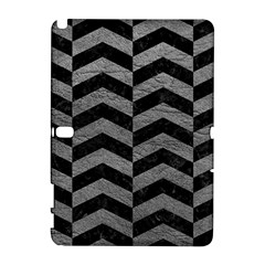 Chevron2 Black Marble & Gray Leather Galaxy Note 1