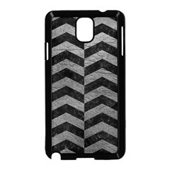 Chevron2 Black Marble & Gray Leather Samsung Galaxy Note 3 Neo Hardshell Case (black)