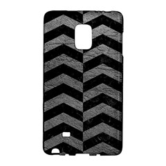 Chevron2 Black Marble & Gray Leather Galaxy Note Edge