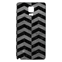 Chevron2 Black Marble & Gray Leather Galaxy Note 4 Back Case