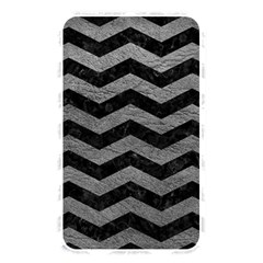 Chevron3 Black Marble & Gray Leather Memory Card Reader