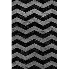Chevron3 Black Marble & Gray Leather 5 5  X 8 5  Notebooks