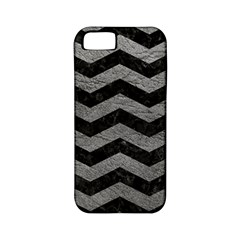 Chevron3 Black Marble & Gray Leather Apple Iphone 5 Classic Hardshell Case (pc+silicone)