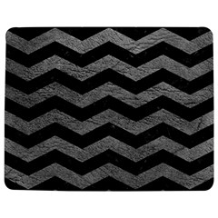 Chevron3 Black Marble & Gray Leather Jigsaw Puzzle Photo Stand (rectangular)