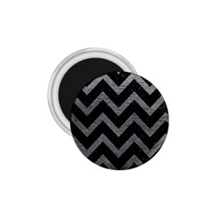 Chevron9 Black Marble & Gray Leather 1 75  Magnets