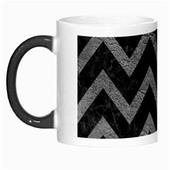 Chevron9 Black Marble & Gray Leather Morph Mugs