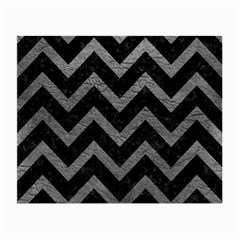 Chevron9 Black Marble & Gray Leather Small Glasses Cloth (2 Side)