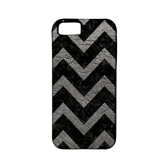 Chevron9 Black Marble & Gray Leather Apple Iphone 5 Classic Hardshell Case (pc+silicone)