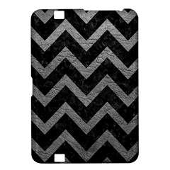 Chevron9 Black Marble & Gray Leather Kindle Fire Hd 8 9