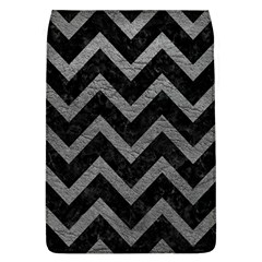 Chevron9 Black Marble & Gray Leather Flap Covers (l)