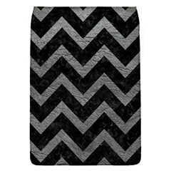 Chevron9 Black Marble & Gray Leather Flap Covers (s)