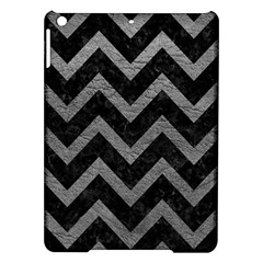 Chevron9 Black Marble & Gray Leather Ipad Air Hardshell Cases