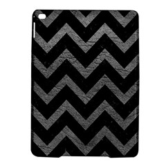 Chevron9 Black Marble & Gray Leather Ipad Air 2 Hardshell Cases