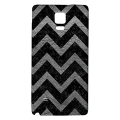 Chevron9 Black Marble & Gray Leather Galaxy Note 4 Back Case