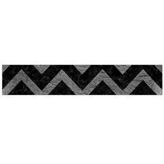 Chevron9 Black Marble & Gray Leather Flano Scarf (large)